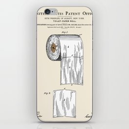 Toilet Paper Roll Patent iPhone Skin