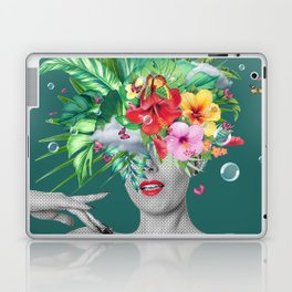 portriat floral Laptop & iPad Skin