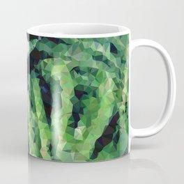 Geometric Green Leaves Coffee Mug