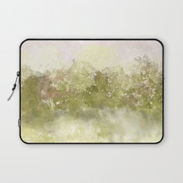 Choppy Soft Pink and Deep Yellow Ocean Water Laptop Sleeve