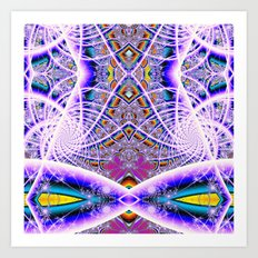 BBQSHOES: Bubbleweb Fractal 9513 Art Print