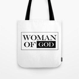 Woman of God Tote Bag