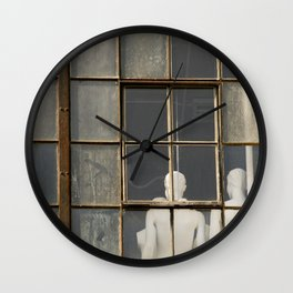 Mannequins in the Window Wall Clock