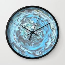 Aqua Swirl Topography Wall Clock