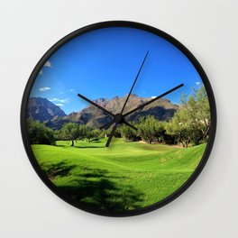 Mountains and Golf Wall Clock