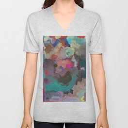 Colorful Abstract Textures Unisex V-Neck