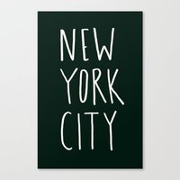 nyc Canvas Prints featuring NYC by Leah Flores