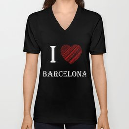 Barcelona Classic. I love my favorite city. Unisex V-Neck