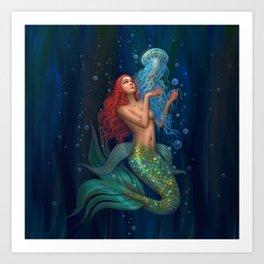 Beautiul mermaid Art Print