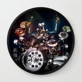 Drum Machine - The Band's Engine Wall Clock