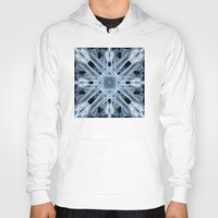 snowflake Hoodies featuring Snowflake by Steve Purnell