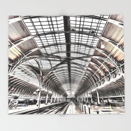 Paddington Railway Station London Throw Blanket