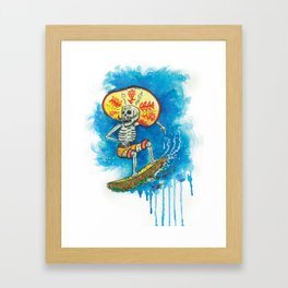Taco Surfer Framed Art Print
