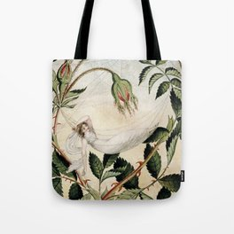 """A Fairy Resting in a Hammock"" by Amelia Jane Murray Tote Bag"