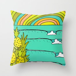 pineapple fields and endless summer vibes Throw Pillow