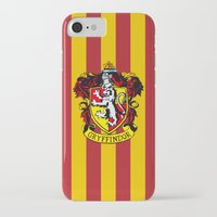 hogwarts iPhone & iPod Cases featuring Gryffindor - Hogwarts  by Kesen