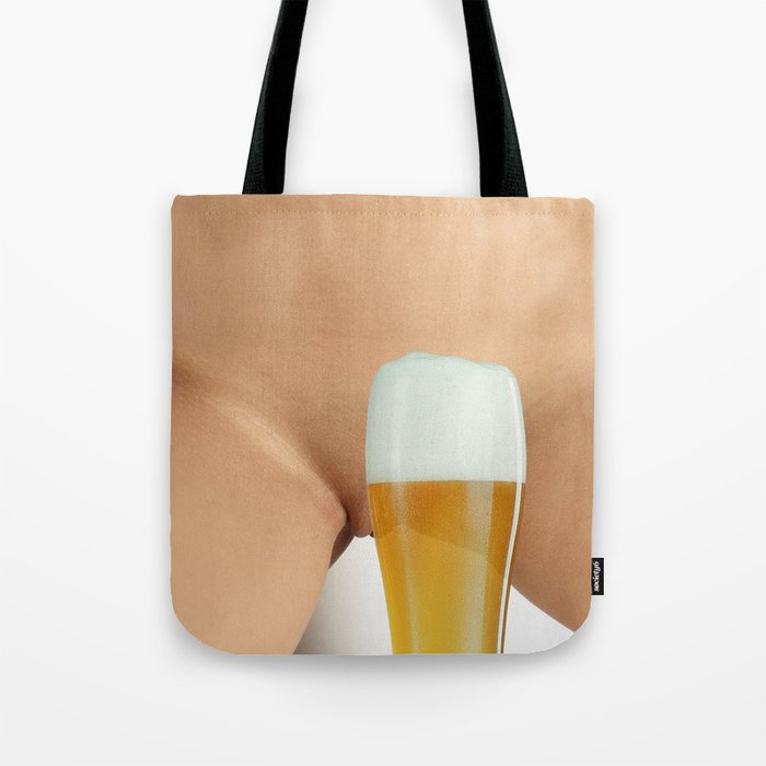 Beer And Woman Tote Bag By Annsp