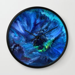Blue Anemone Wall Clock