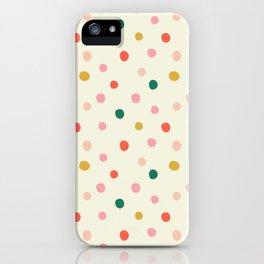Polka Polka Dots in Cream  iPhone Case