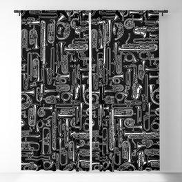 Horns B&W Blackout Curtain