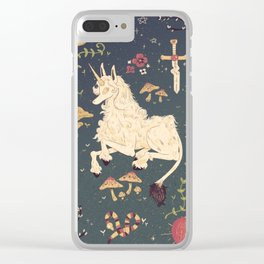 Unicorn Garden Clear iPhone Case