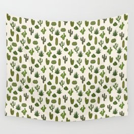 Cacti parade Wall Tapestry