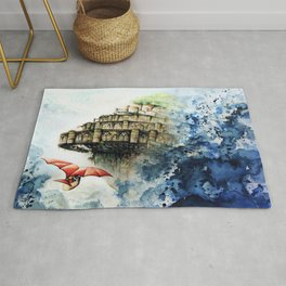"""""""The castle in the sky"""" Rug"""