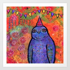 Whimsical Owl Art Art Print