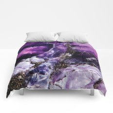 PURPLE AMETHYST QUARTZ MACRO Comforters