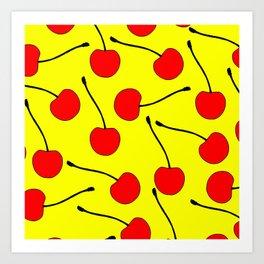 One Lonley Cherry  Art Print