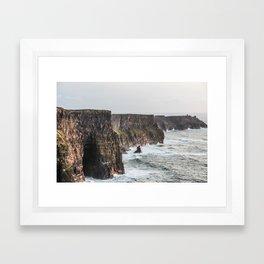 Travel to Ireland: Cliffs of Moher Framed Art Print