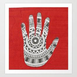 Hand Mandala Art Print