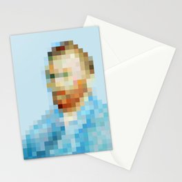 Van Gogh Pixel Art Stationery Cards