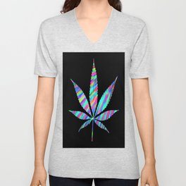 Weed : High Time Colorful Psychedelic Unisex V-Neck