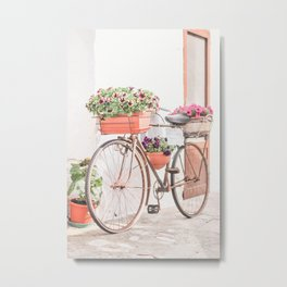 405. The Flower Bike, Ostuni, Puglia, Italy Metal Print