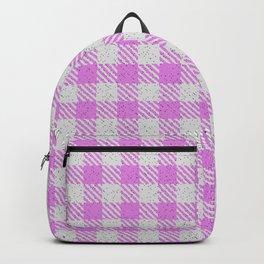 Violet Buffalo Plaid Backpack