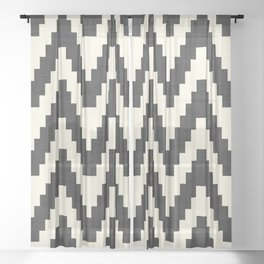 Twine in Black and White Sheer Curtain