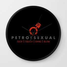 PETROLSEXUAL v2 HQvector Wall Clock