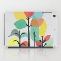 gray iPad Cases featuring Tropical Groove (gray) by Picomodi