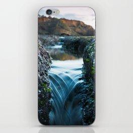 Tide Pool Waterfall iPhone Skin
