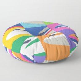 Retro Airline Nose Livery - International Floor Pillow