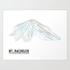 Mt. Bachelor, OR - Minimalist Trail Art Art Print