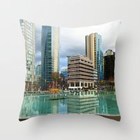 vancouver Throw Pillows featuring Vancouver by Chris Root