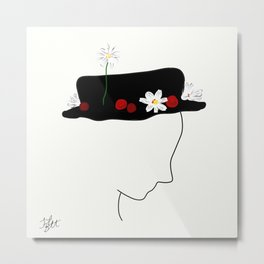 A Hat for Mary Poppins Metal Print