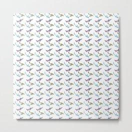 Prehistoric Shark Pattern Metal Print