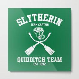 Slytherin Quidditch Metal Print