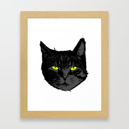 Perfect Gift for Cat Lovers A Black Persian Cat Tee T-shirt Design Kitty Kitten Animals Fur Cute Framed Art Print