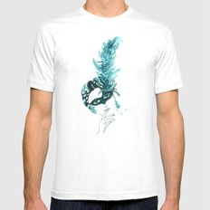 Feather Lady Mens Fitted Tee White MEDIUM