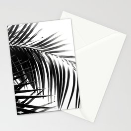 Palm Leaves Black & White Vibes #3 #tropical #decor #art #society6 Stationery Cards