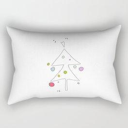 Cute Graphic Christmas Tree Rectangular Pillow